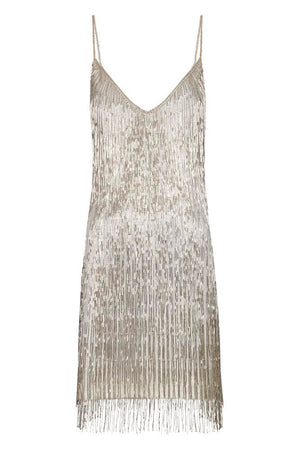 Athena Silver Dress - Annie's Ibiza