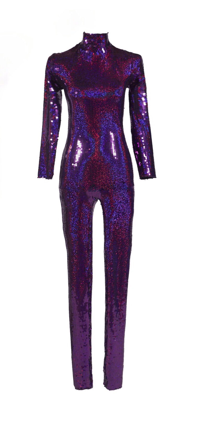 Jack Irving Purple Sequin Catsuit