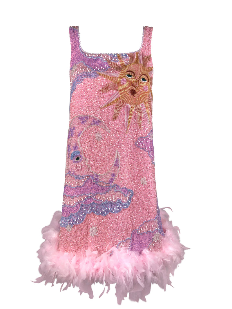 Pink Sun and Moon Dress - Annie's Ibiza