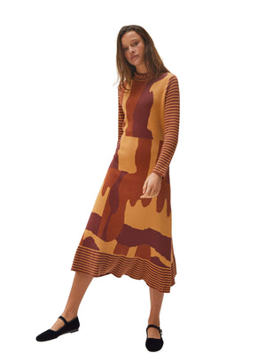 Long Dress Long Sleeves- Yellow Glaze - Annie's Ibiza