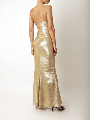 Pepe Dress Gold Lurex