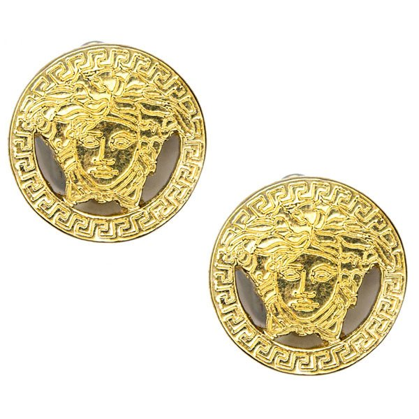 90's Versace Medusa Head Clip-on Earrings