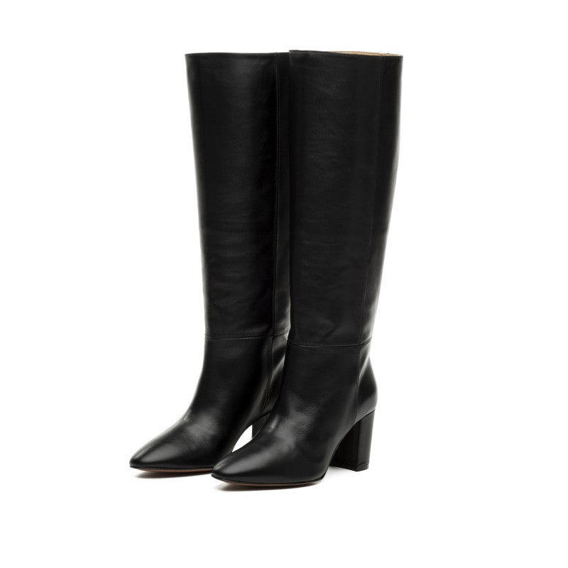 Tall Black Leather Boots - Annie's Ibiza