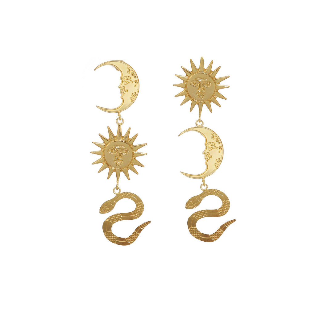 Let The Moon Glow Earrings - Annie's Ibiza