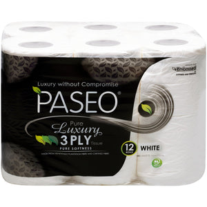 Paseo Pure Luxury Toilet Rolls