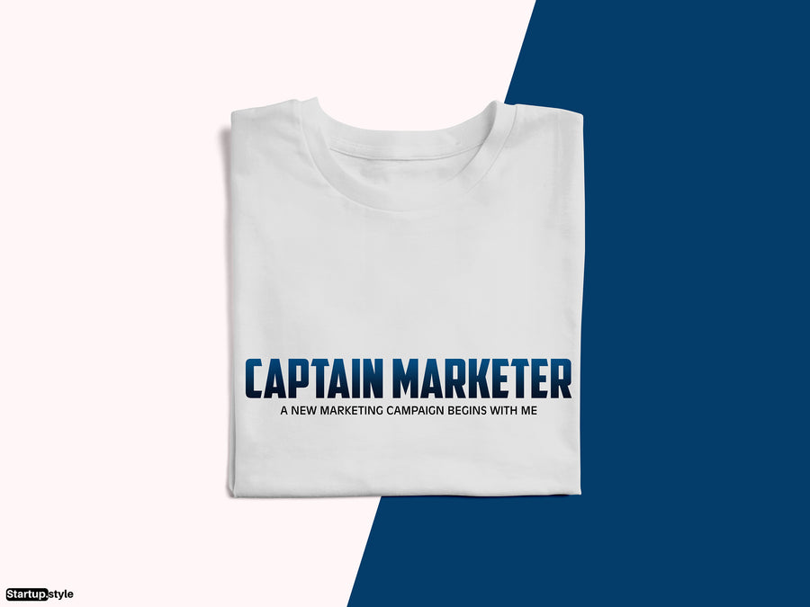 Captain Marketer – Startup Superhero T-shirt