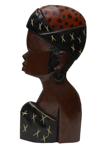 Handcrafted Ohemaa Wall Bust