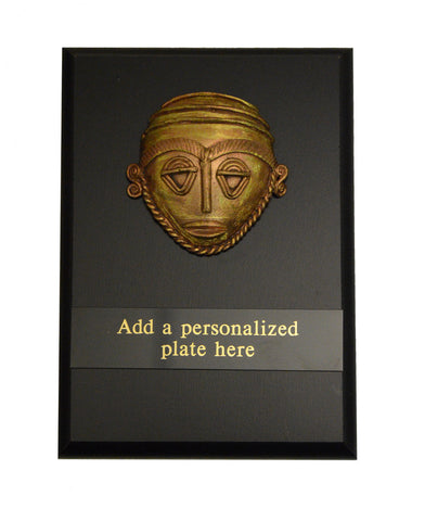 "Heritage Trophies & Recognition Awards  - Mini Brass Plaque (6"" x 8"")"