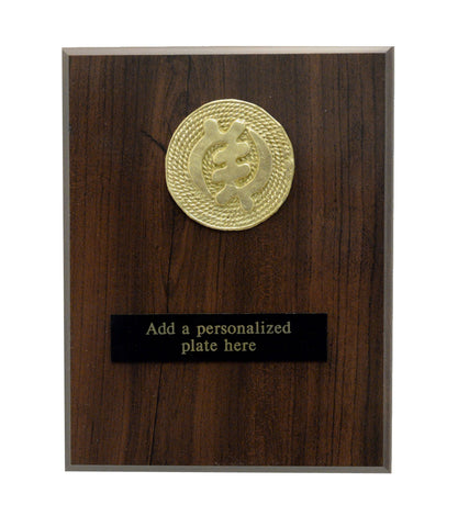 African-American Heritage Trophies & Recognition Awards - Gye Nyame Brass Plaque