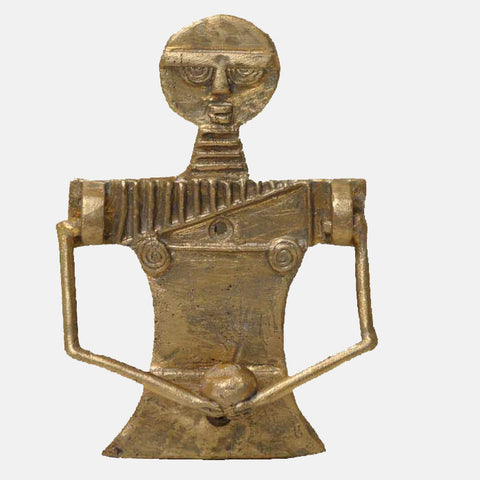 African art - Akuaba Goddess Brass Door Knocker
