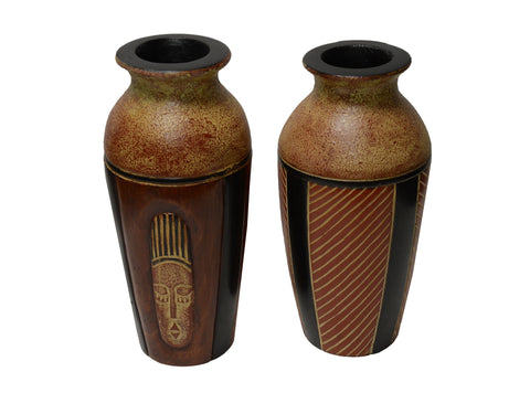 Handcrafted Wooden Akuaba Vase