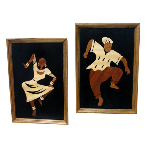 African Rythms wood collage