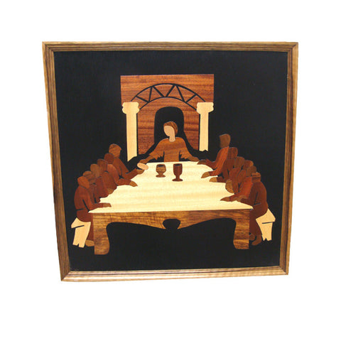 Last Supper Wood Inlay