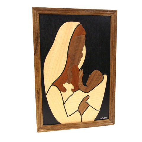 "Mother & Child ""You Are My World"" wood collage"