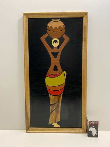 """Woman Of Hope"" Wood Overlay Wall Hanging"