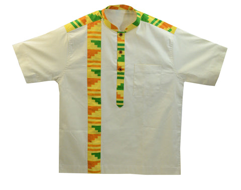 Ghana Men's Polished Cotton/Batik Dashiki III - XL