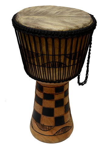 Djembe Power Drum - Natural Wood