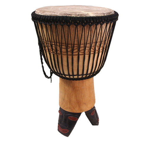 African Djembe Drum on Stand