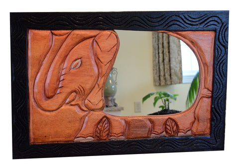 African Reflections Elephant Mirror