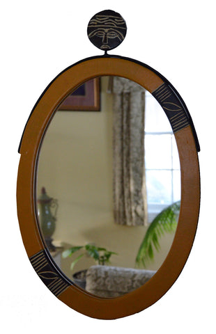 Akuaba Oval Mirror