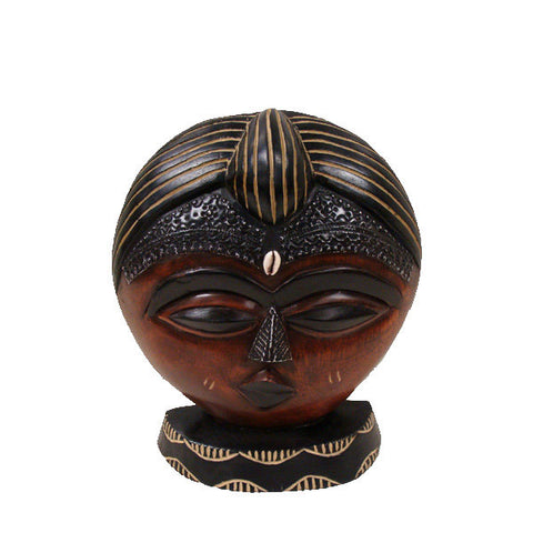 "Handmade Akuaba ""Face Of Innocence"" Mask"