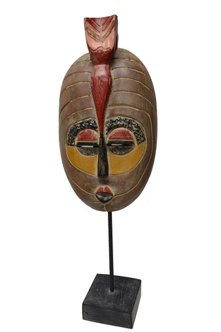 Akuaba Princess Mask On Stand