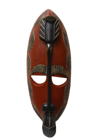 Handmade Sese Wood Ohemaa Bird Mask
