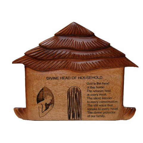 Plaque - African Hut Divine Household