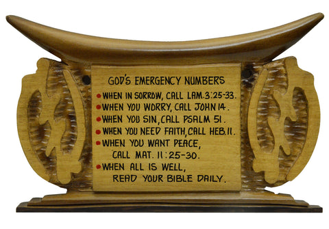 Plaque - God's Emergency Numbers