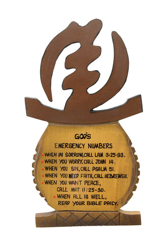 Plaque - God's Emergency Numbers II - Wall Plaque