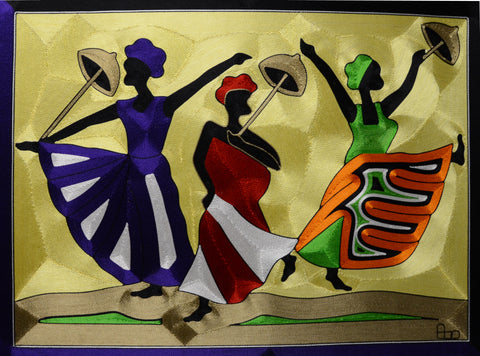 Celebrate Friendship - Silk Thread Art (UNFRAMED)