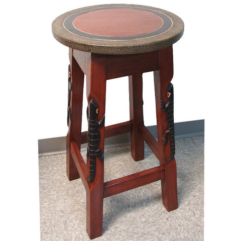 Alligator Bar Stool and Pedestal