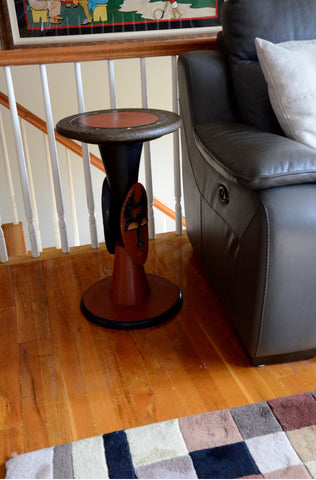 Wisdom Mask End Table & Pedestal