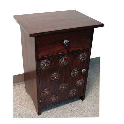 "Handcrafted  African Night Stand - ""Ahomka"""