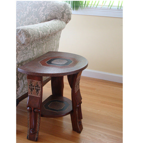 African Art Fanti Companion Table