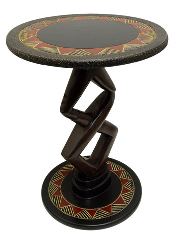 Handcrafted Lovers Accent Table