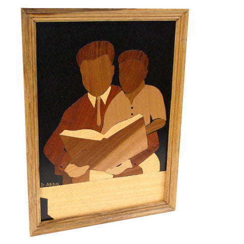 "Father & Son ""Our Time Together"" wood collage"