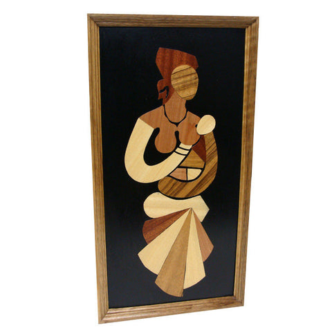 "Mother & Child ""A Gentle Touch"" Wood Overlay"