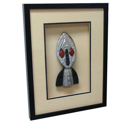 Tribal Mask Shadow Box