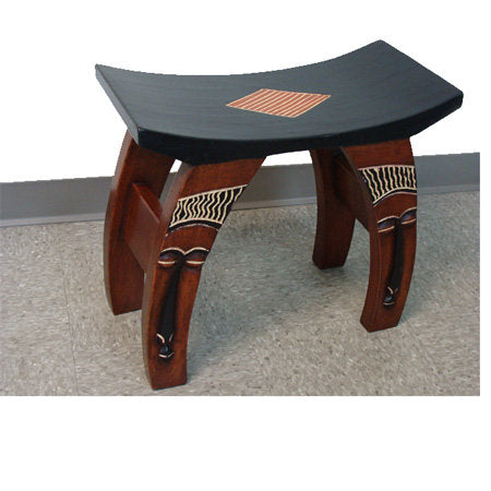 Ashanti Mask Bow Stool - Handcrafted