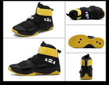 Load image into Gallery viewer, Easy Feel Black n Yellow Sneakers