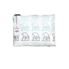 Surfing Wave Aloha Collection Medium White Pouch