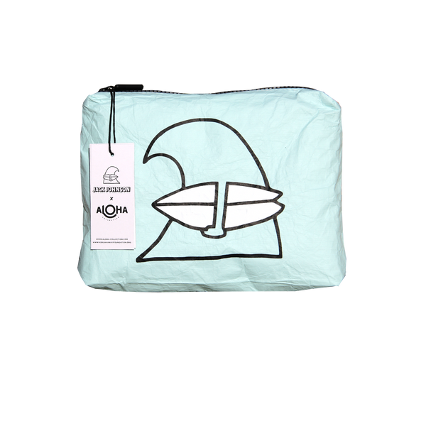 Surfing Wave Aloha Collection Small Mint Pouch