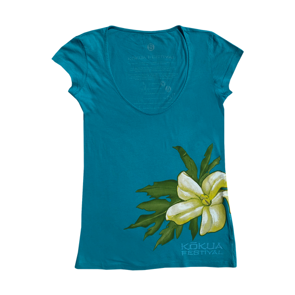Ladies Kōkua Festival 2010 Scoop Neck Shirt