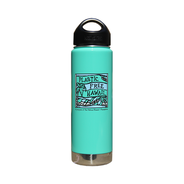 Plastic Free Hawai'i Klean Kanteen 20 oz Insulated Bottle