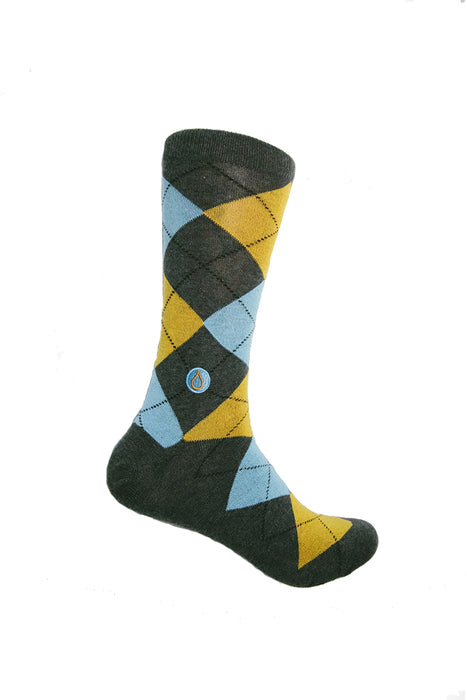 Conscious Step - Socks To Give Clean Water - Water - Argyle