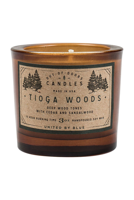 United by Blue - 3 oz Out-of-Doors Candle - Tioga Woods