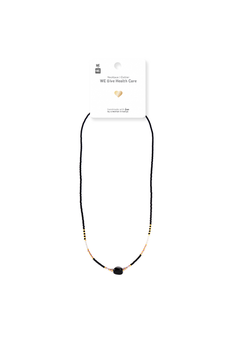 Semiprecious Uzuri Necklace - Black with Black Jasper