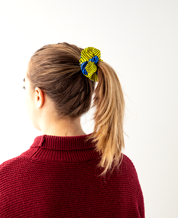 Scrunchie | Yellow Swirl