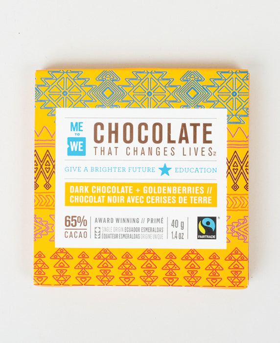 Dark + Goldenberries - ME to WE Chocolate That Changes Lives™